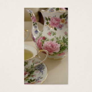 英国のばら色の茶名刺 名刺