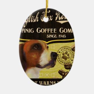 英国のキツネの猟犬のブランド- Organic Coffee Company セラミックオーナメント
