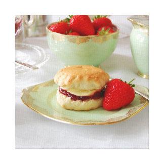 英国のクリーム色の茶キャンバスプリント キャンバスプリント