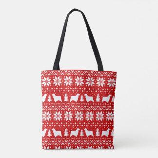 英国のコッカースパニエルのクリスマスパターン赤 トートバッグ