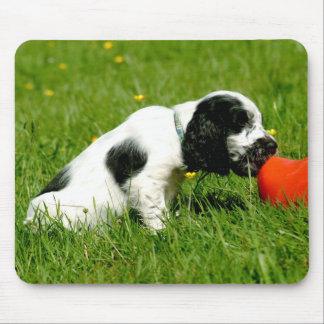 英国のコッカースパニエルの子犬のマウスパッド マウスパッド