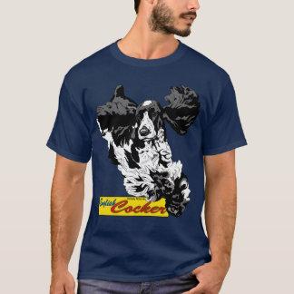 英国のコッカースパニエルの跳躍 Tシャツ