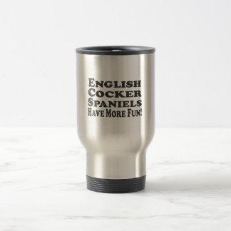英国のコッカースパニエルはより多くの楽しい時を過します! 文字を加えて下さい トラベルマグ