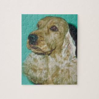 英国のコッカースパニエル犬のパズル ジグソーパズル