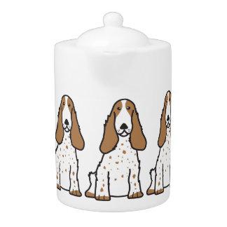 英国のコッカースパニエル犬の漫画