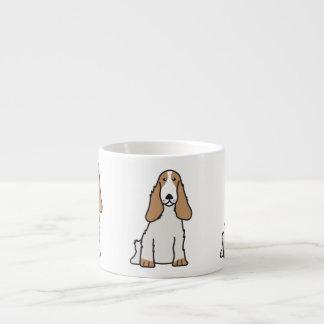 英国のコッカースパニエル犬の漫画 エスプレッソカップ