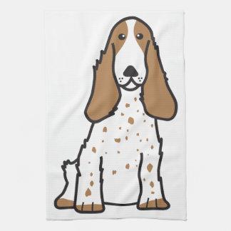 英国のコッカースパニエル犬の漫画 キッチンタオル