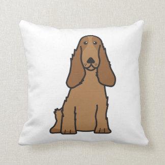 英国のコッカースパニエル犬の漫画 クッション