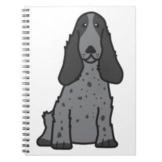 英国のコッカースパニエル犬の漫画 スプリングノート