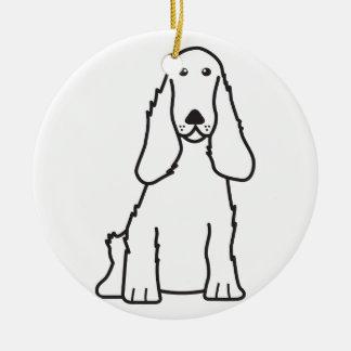 英国のコッカースパニエル犬の漫画 セラミックオーナメント