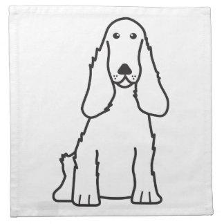 英国のコッカースパニエル犬の漫画 ナプキンクロス