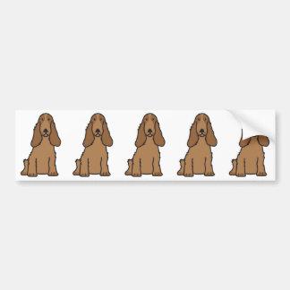 英国のコッカースパニエル犬の漫画 バンパーステッカー