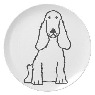英国のコッカースパニエル犬の漫画 プレート