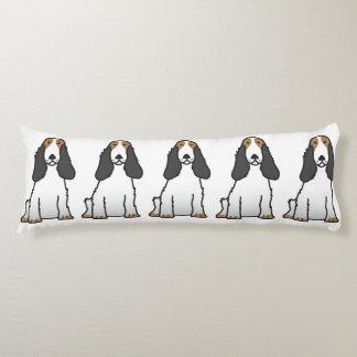 英国のコッカースパニエル犬の漫画 ボディピロー
