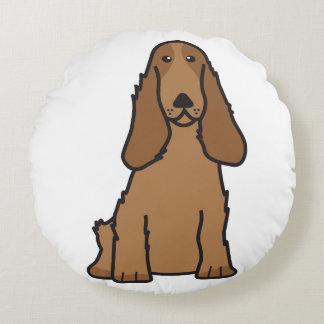 英国のコッカースパニエル犬の漫画 ラウンドクッション