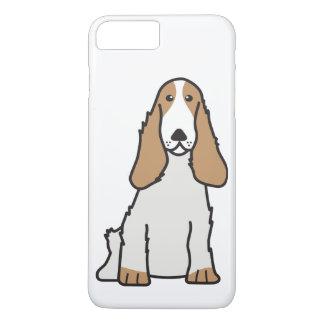 英国のコッカースパニエル犬の漫画 iPhone 8 PLUS/7 PLUSケース