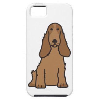 英国のコッカースパニエル犬の漫画 iPhone SE/5/5s ケース