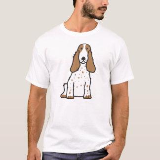 英国のコッカースパニエル犬の漫画 Tシャツ