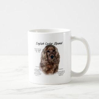 英国のコッカースパニエル(レバー)の歴史のデザイン コーヒーマグカップ