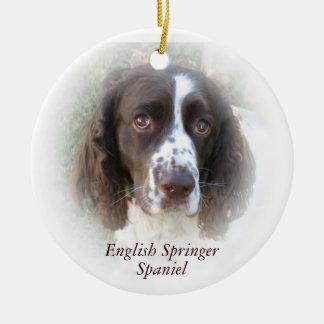 英国のスプリンガースパニエルのクリスマスのオーナメント セラミックオーナメント