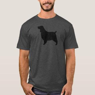 英国のスプリンガースパニエルのシルエット Tシャツ