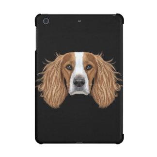 英国のスプリンガースパニエルの図解入りの、写真付きのなポートレート iPad MINI RETINAケース