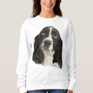 英国のスプリンガースパニエルの子犬 スウェットシャツ
