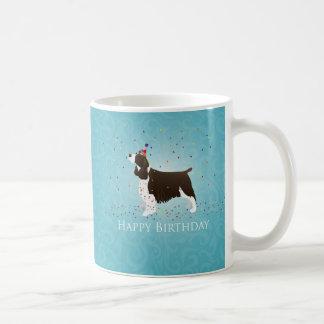英国のスプリンガースパニエルの誕生日のデザイン コーヒーマグカップ