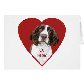 英国のスプリンガースパニエルは鉱山のバレンタインカードです カード