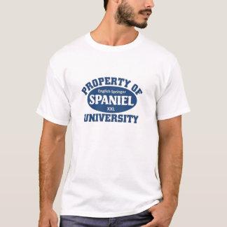 英国のスプリンガースパニエル大学 Tシャツ