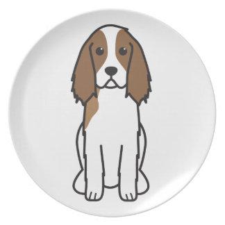 英国のスプリンガースパニエル犬の漫画 プレート