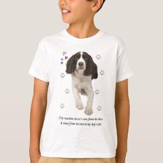 英国のスプリンガースパニエル犬 Tシャツ