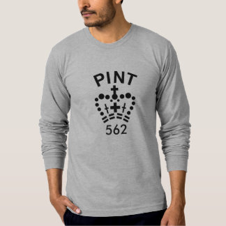 英国のパイントのずっと袖のTシャツ Tシャツ