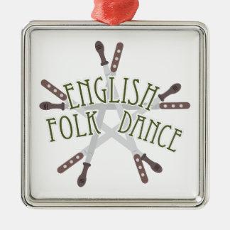 英国のフォークダンス メタルオーナメント
