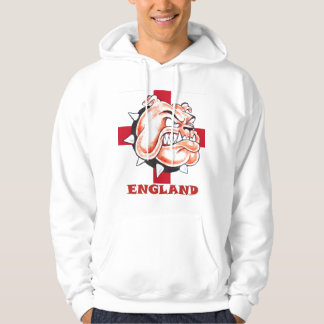 英国のブルドッグおよびStゲオルゲスの旗イギリス パーカ