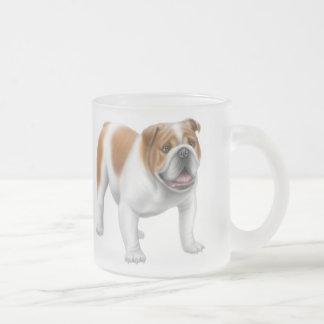 英国のブルドッグによって曇らされるマグ フロストグラスマグカップ