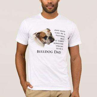 英国のブルドッグのパパのワイシャツ Tシャツ