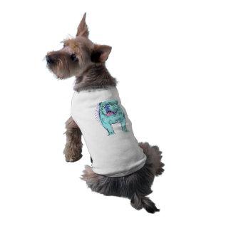 英国のブルドッグのユニークなカラフルの破裂音犬の芸術 ペット服