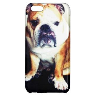 英国のブルドッグの凝視のコンテストのiPhoneの場合 iPhone 5C カバー