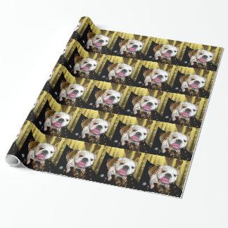 英国のブルドッグの包装紙 ラッピングペーパー