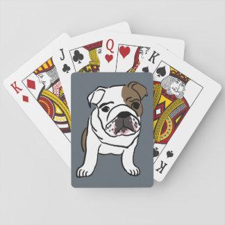 英国のブルドッグの子犬の飼い犬の絵 トランプ