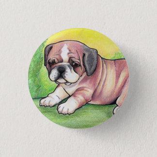 英国のブルドッグの子犬ボタン 3.2CM 丸型バッジ