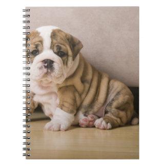 英国のブルドッグの子犬 ノートブック