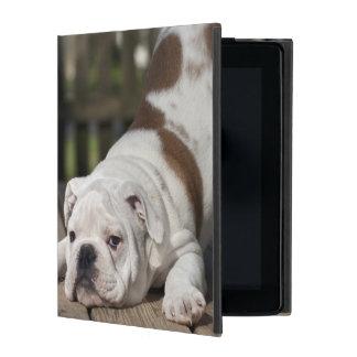 英国のブルドッグの子犬 iPad ケース