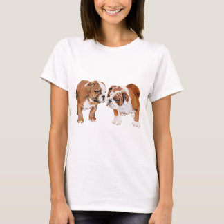 英国のブルドッグの子犬 Tシャツ
