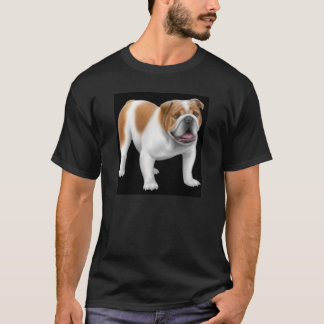 英国のブルドッグの暗闇のTシャツ Tシャツ