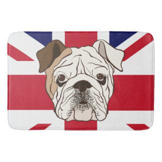 英国のブルドッグ及び英国国旗のバス・マット バスマット