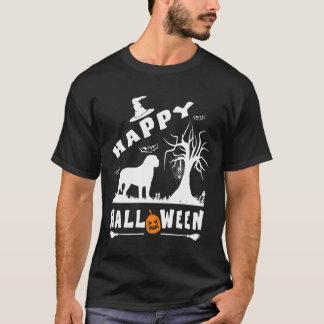 英国のマスティフのハッピーハローウィンの愛犬家のギフト Tシャツ