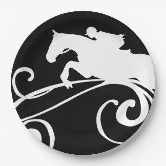 英国の乗馬の華麗さ ペーパープレート