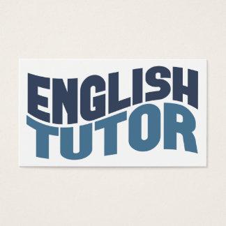 英国の個人教師の名刺 名刺